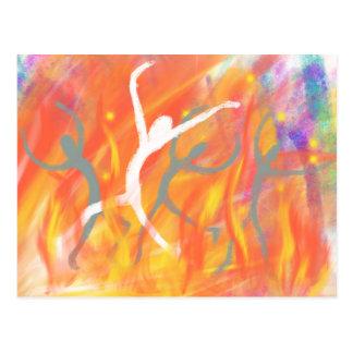 Dancing in the Furnace Christian Modern Art Design Postcard