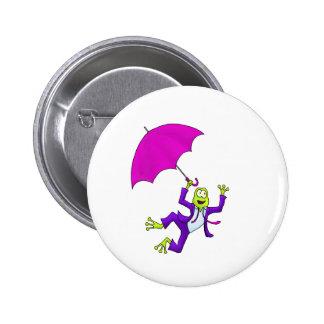 Dancing in the Rain Frog Pin