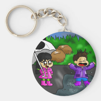 Dancing in the rain key chains
