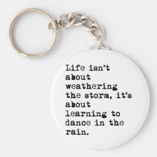 Dancing in the Rain Keychain