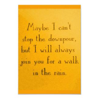 DANCING IN THE RAIN MOTTO ATTITUDE QUOTES POSITIVE CARD