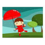 dancing in the rain post card