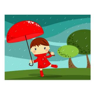 dancing in the rain postcard