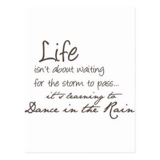 Dancing In The Rain Post Cards