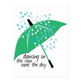 Dancing In The Rain Saves Postcard