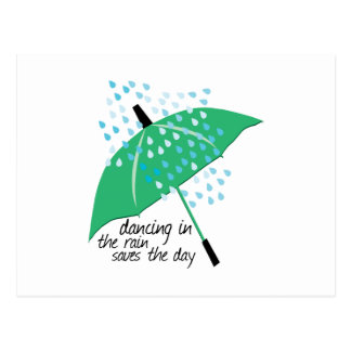 Dancing In The Rain Saves Postcards