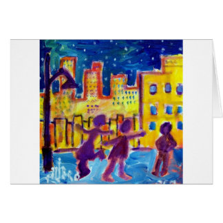 Dancing in the Street by Piliero Greeting Card