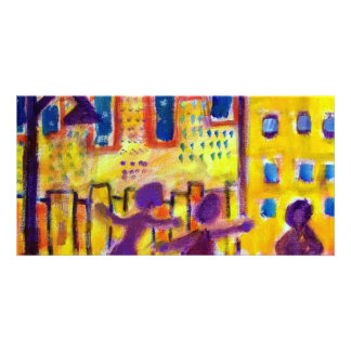 Dancing in the Street by Piliero Picture Card
