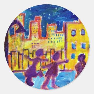 Dancing in the Street by Piliero Sticker