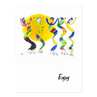 Dancing in the Sun 5 Postcards