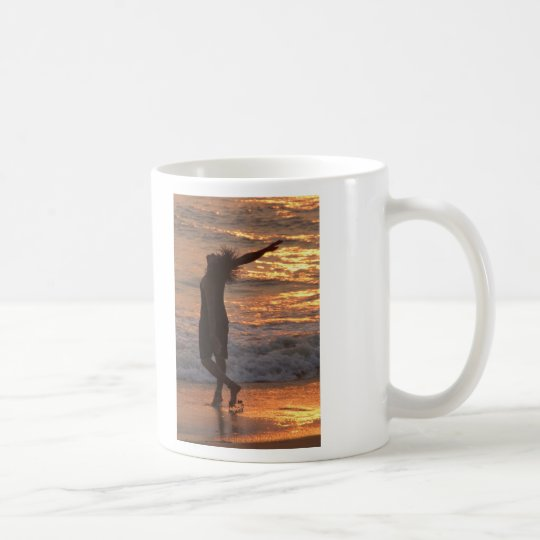 Dancing in the Surf at Sunset Coffee Mug