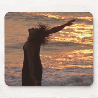 Dancing in the Surf at Sunset Mousemats