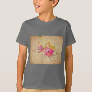 Dancing In The Wind - Fuchsia Flowers T-Shirt