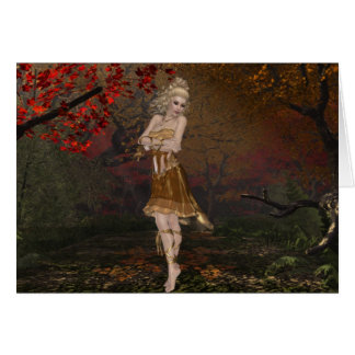 Dancing in the Woods 2 - In the Fall Greeting Card