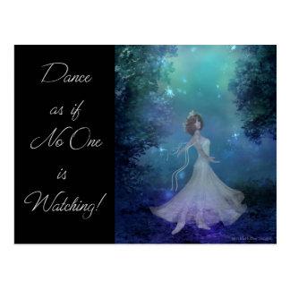 dancing in the woods postcard