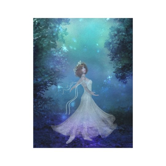 Dancing in the Woods Wrapped Canvas Print