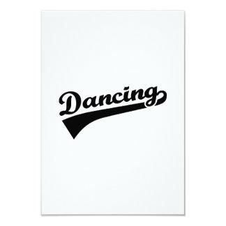 Dancing 3.5x5 Paper Invitation Card