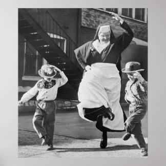 Dancing Irish Poster