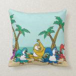 Dancing Island Parrots Pillow