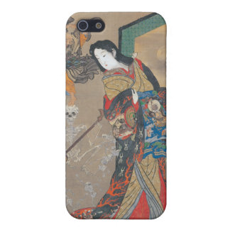 Dancing Japanese Skeletons, Skeleton with Guitar iPhone SE/5/5s Cover