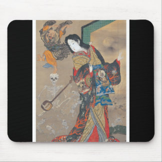Dancing Japanese Skeletons, Skeleton with Guitar Mouse Pad