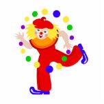 Dancing Juggler Clown Photo Sculpture
