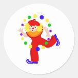 Dancing Juggler Clown Stickers