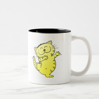 Dancing Kitten Two-Tone Coffee Mug