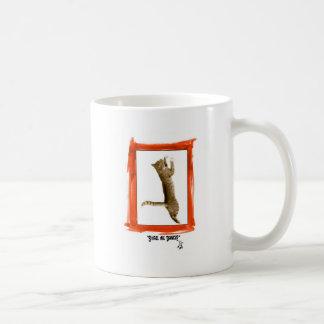 Dancing Kitty Classic White Coffee Mug