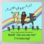 Dancing Labradors at the Rainbow Bridge Posters