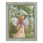 """Dancing Leaves  16"""" x 20"""" poster of an Angel"""