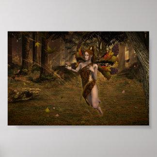 Dancing Leaves Print