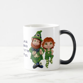 Dancing Leprecauns Pixel Art St Patrick s Day Mugs