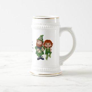 Dancing Leprecauns Pixel Art St Patrick s Day Coffee Mug