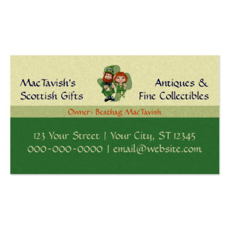 Dancing Leprecauns Pixel Art St. Patrick's Day Double-Sided Standard Business Cards (Pack Of 100)