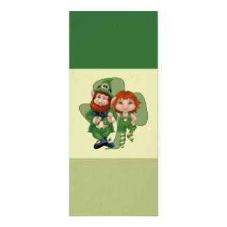 Dancing Leprecauns Pixel Art St. Patrick's Day Card