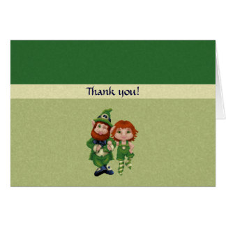 Dancing Leprecauns Pixel Art St. Patrick's Day Stationery Note Card