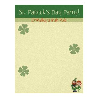 "Dancing Leprecauns Pixel Art St. Patrick's Day 8.5"" X 11"" Flyer"