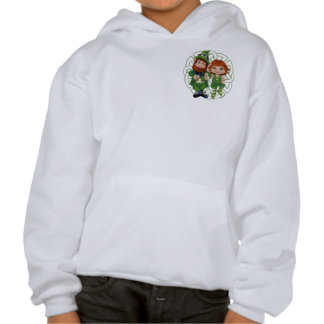 Dancing Leprecauns Pixel Art St. Patrick's Day Hooded Pullover