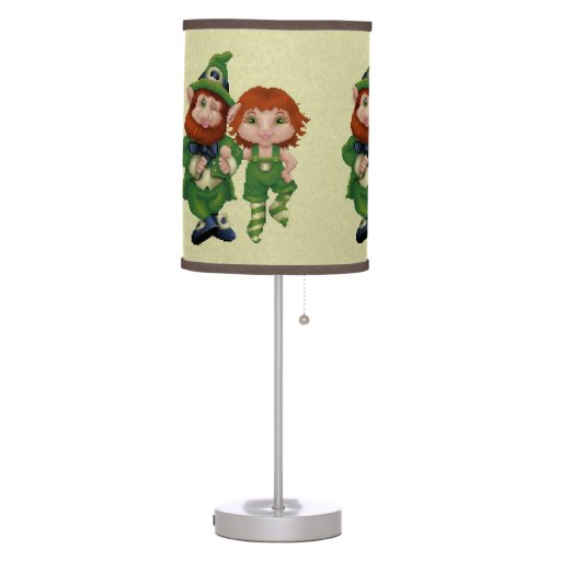 Dancing Leprecauns Pixel Art St. Patrick's Day Desk Lamps