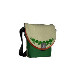 Dancing Leprecauns Pixel Art St. Patrick's Day Courier Bags