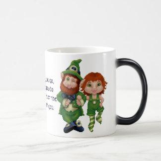 Dancing Leprecauns Pixel Art St. Patrick's Day Mugs