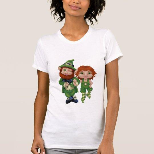 Dancing Leprecauns Pixel Art St. Patrick's Day T-Shirt