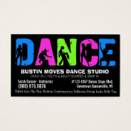 Dancing Lessons Or Dance Studio Business Card at Zazzle