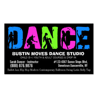 Dancing Lessons or Dance Studio Business Card Templates