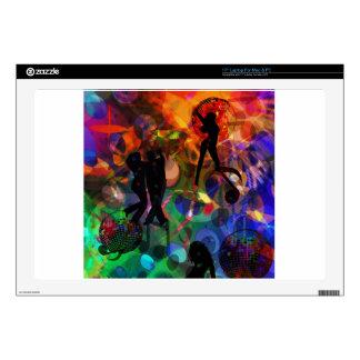 "Dancing light , celebration party 17"" laptop skin"