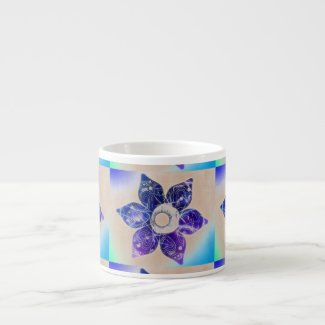 Dancing Lights Flower - ceramic cappuccino cup