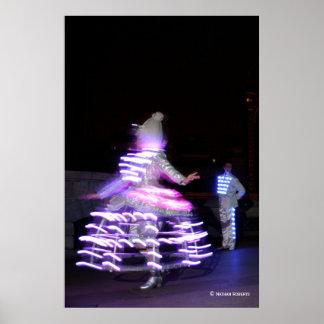 Dancing lights poster