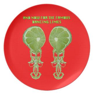 Dancing Limes Melamine Plate