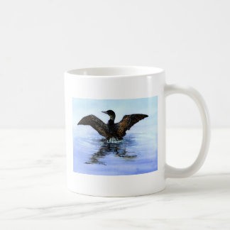 Dancing Loon by Jane Freeman, ART FOR LOON RESCUE Classic White Coffee Mug